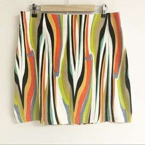 Halogen Multicolored Abstract A-line Skirt